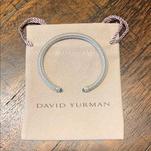 David Yurman cable Bracelet w/ Blue Topaz Diamonds